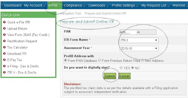 Income tax efiling 2016 | Login Step by step procedure Guide India