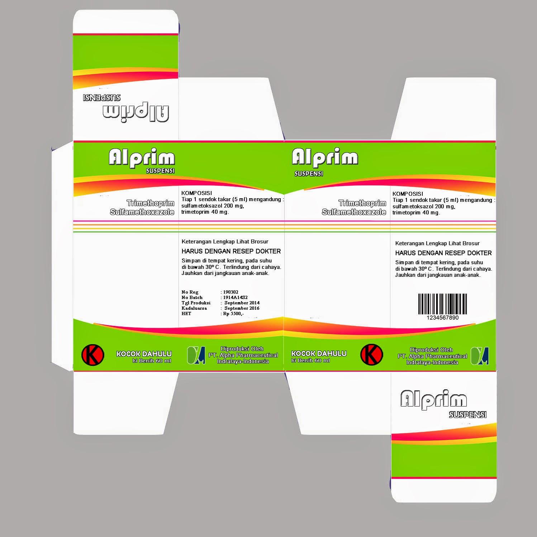 desain kotak obat alprim 100 ml