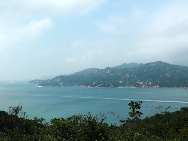 View of Lantau Island from North Lookout Pavilion on Cheung Chau Island, Hong Kong