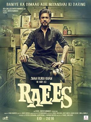 Shah Rukh Khan's Raees Movie first look poster
