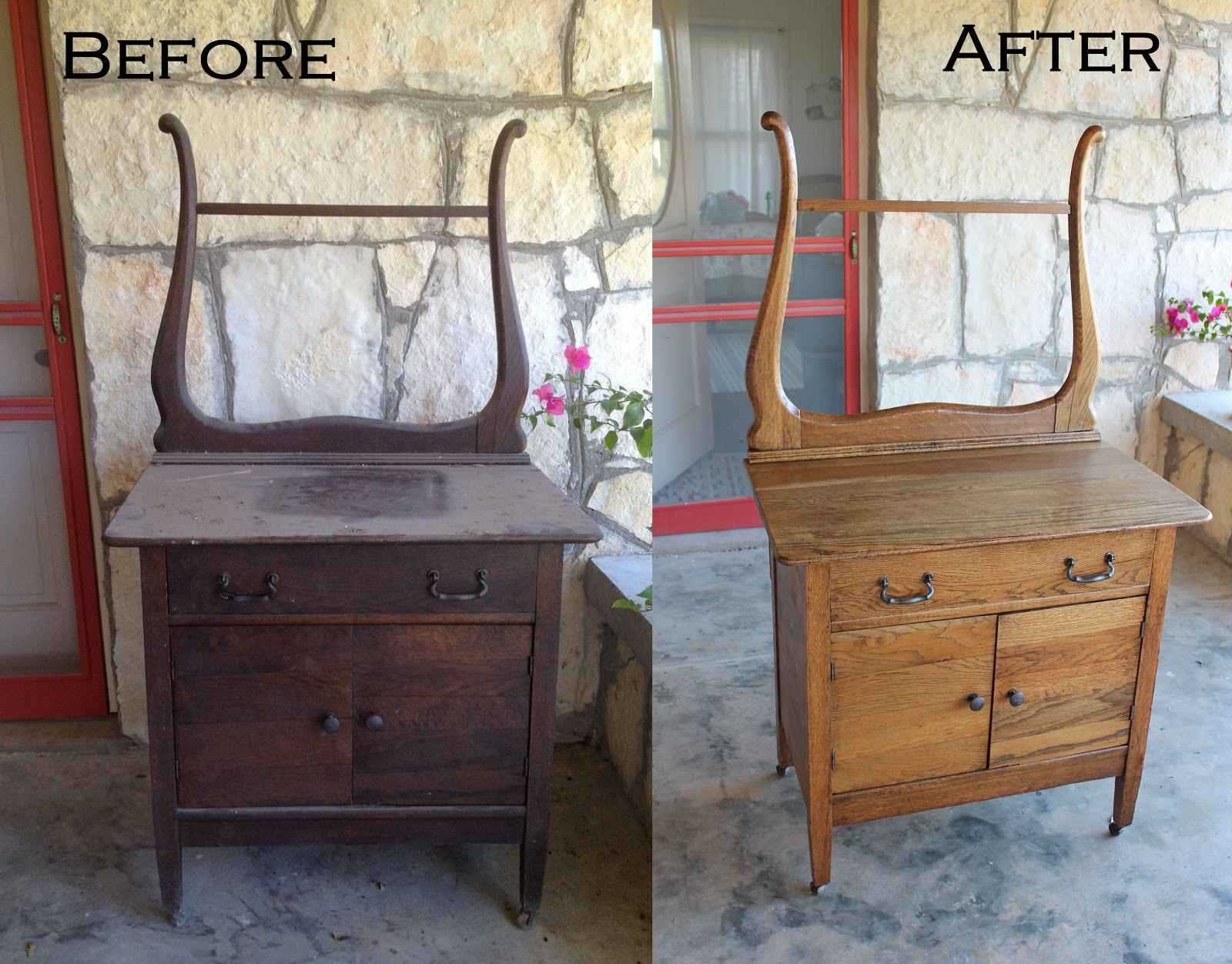 Bon Refinishing Antique Wood Furniture ... A Dry Sink For A Baby Changing Table