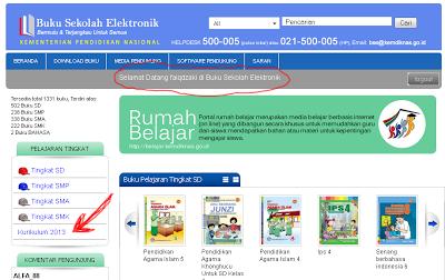 proses login download buku kurikulum 2013 berhasil