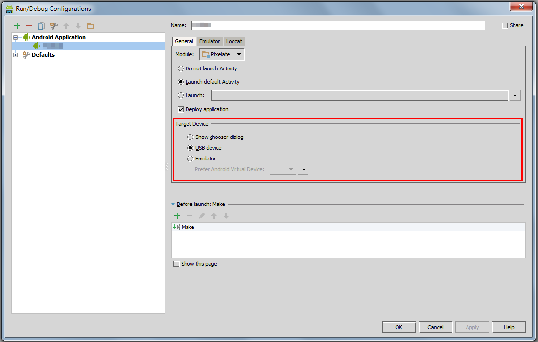 how to run an obfuscated project on android studio