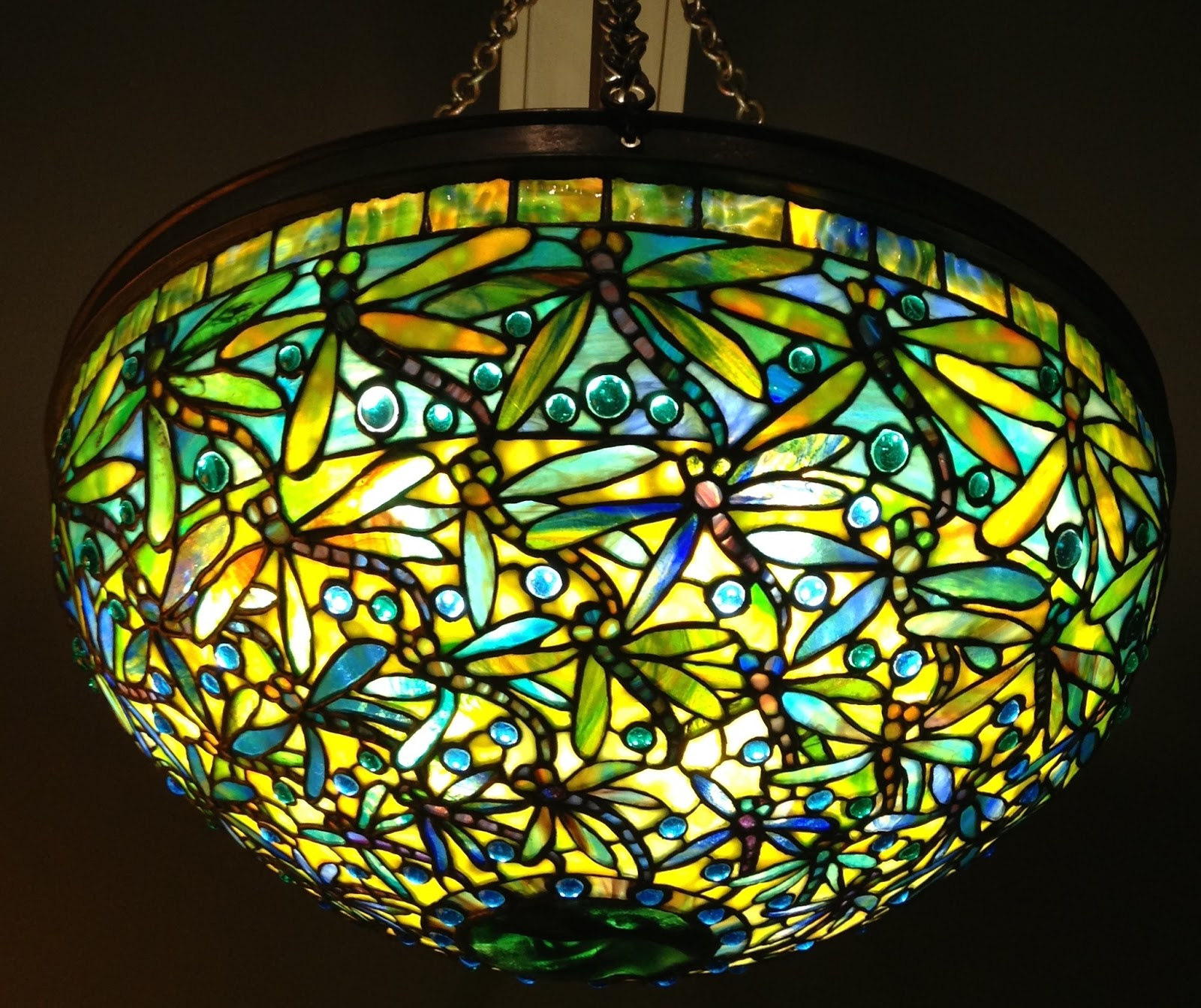 Beautiful Leaded Glass Lamps By Louis Comfort Tiffany, C. 1905 1910