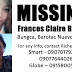 16-year-old Frances Claire Braga missing