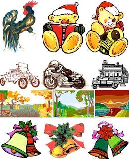 сборник разного рисованного клипарта