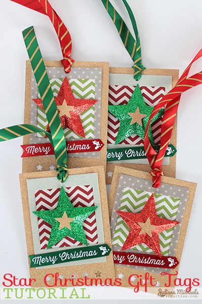 Star Christmas Gift Tags Tutorial by Juliana Michaels