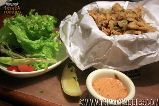 crispy clam spicy lemon dip