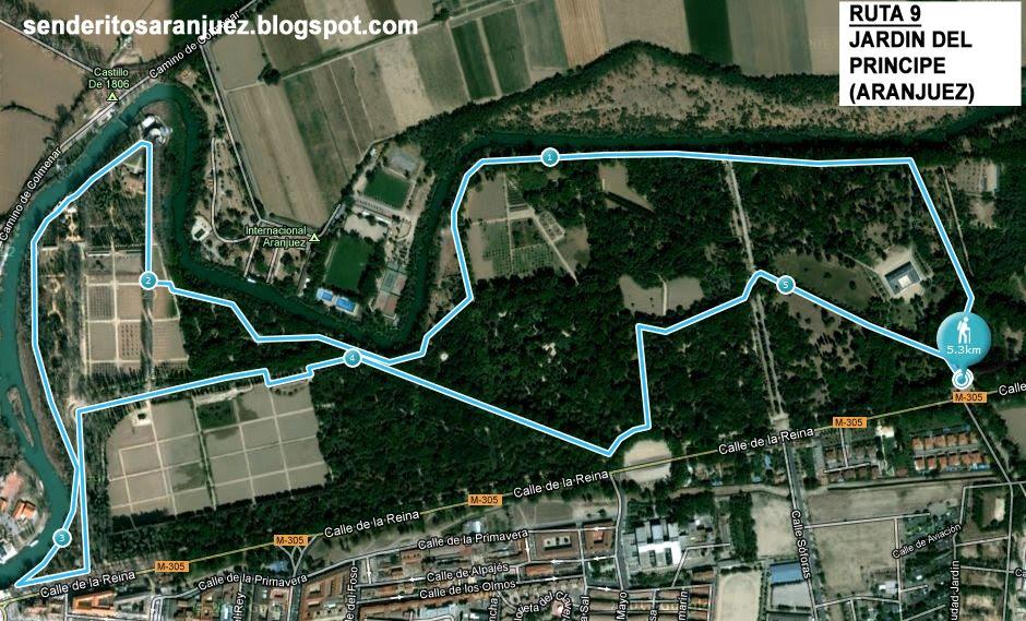 Senderitos de aranjuez ruta por el jardin del principe for Restaurante jardin del principe en aranjuez