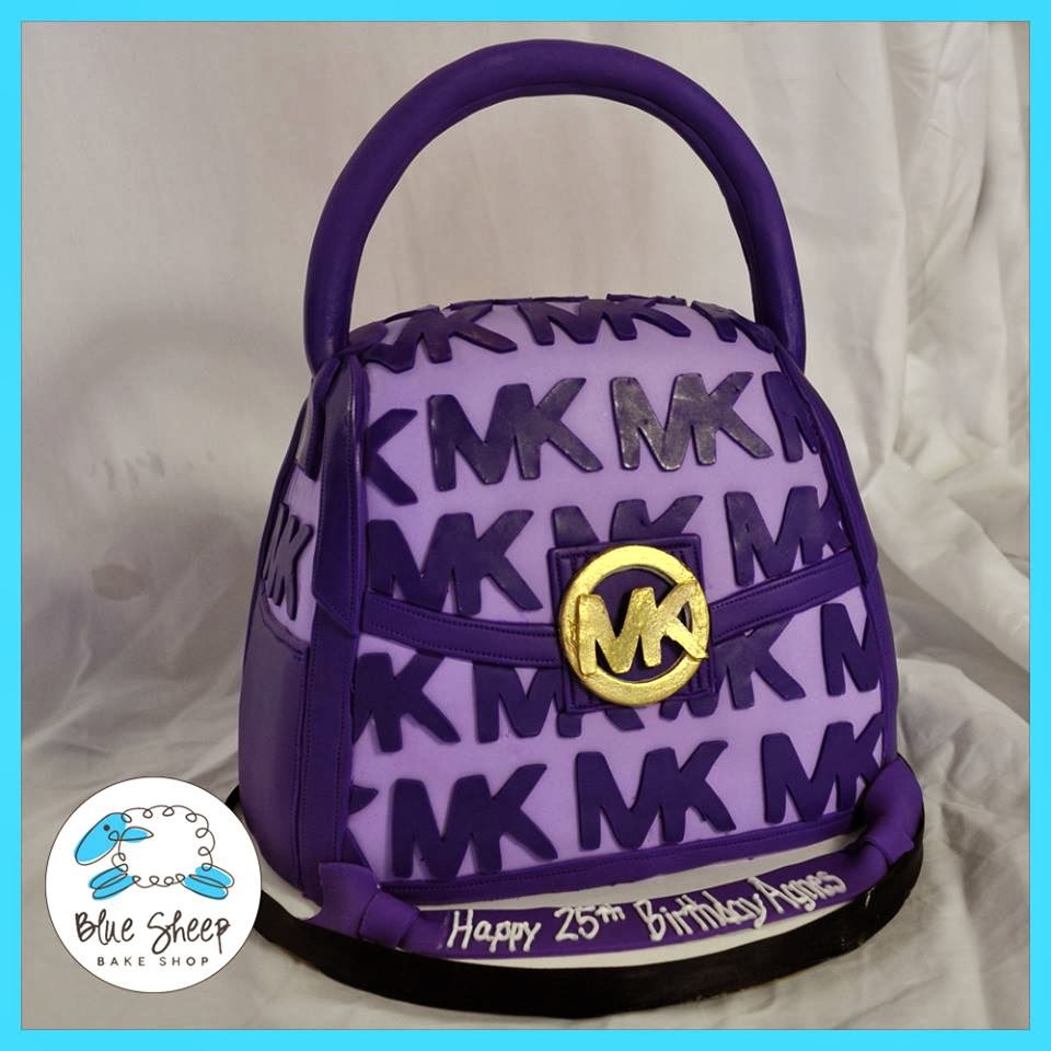 purple michael kors purse birthday cake