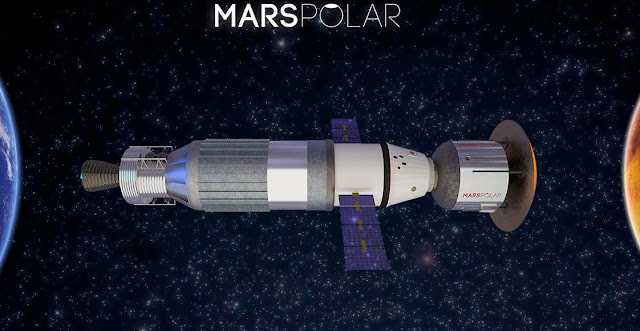 Artist's rendering of the Mars Transportation Vehicle. Image Credit: MarsPolar