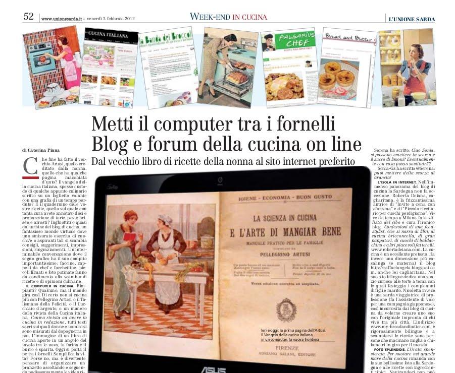 Le ricette di raffaelangela blog e forum della cucina on line l 39 unione sarda 3 febbraio 2012 - Ricette cucina on line ...