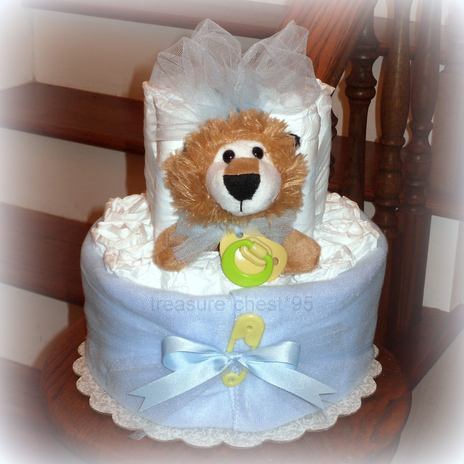 Baby Shower Decorated Cakes: LION Diaper Cake Baby Shower Centerpiece Decorations Table