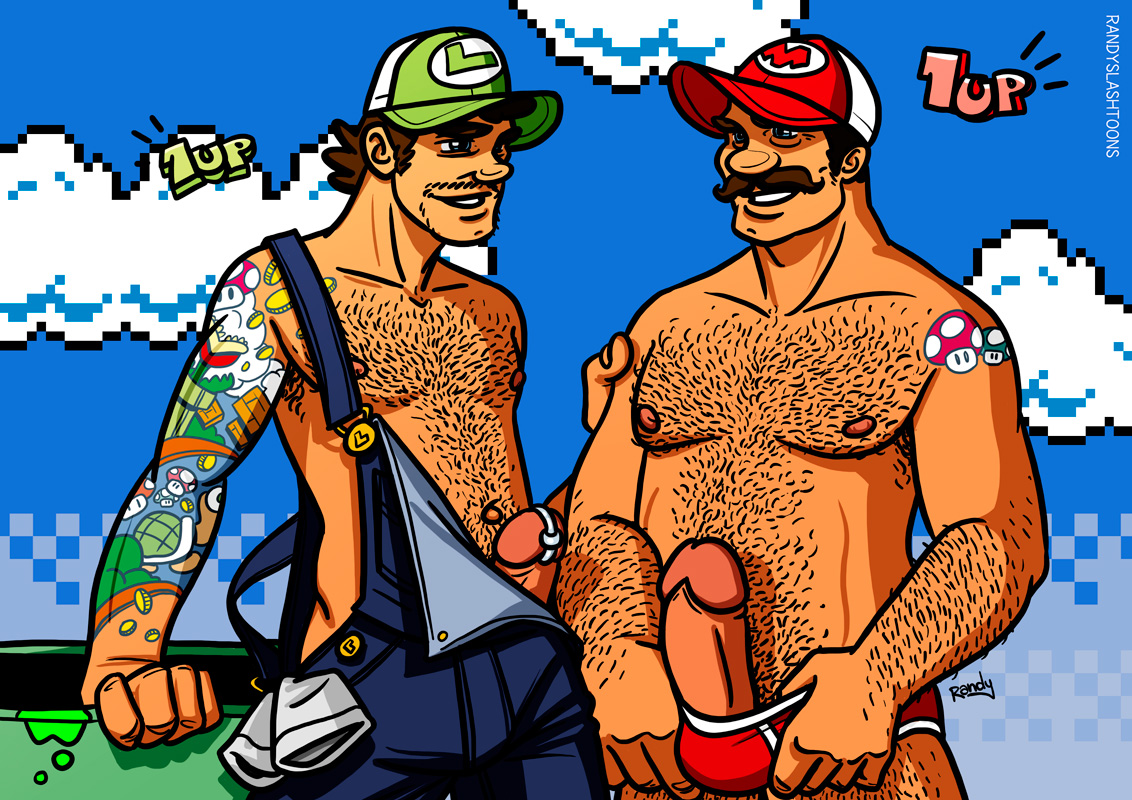 cartoon Mario naked