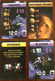 Cards from Galaxy Trucker game