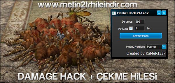 Metin2 PvP Damage Hack ve Çekme Hilesi
