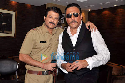 Jackie  Shroff & Anil snapped together at media interviews for TV channels