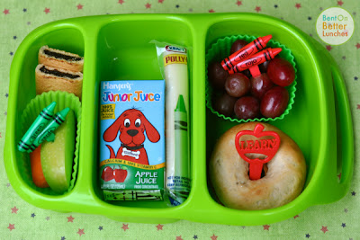 Clifford the Big Red Dog bento school lunch in Goodbyn Bynto