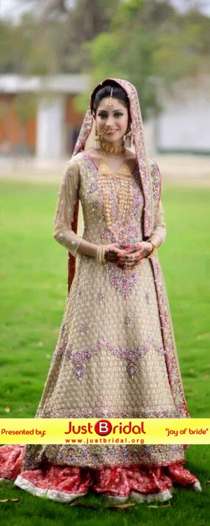 Pakistani dulhan valima desses designs 2015