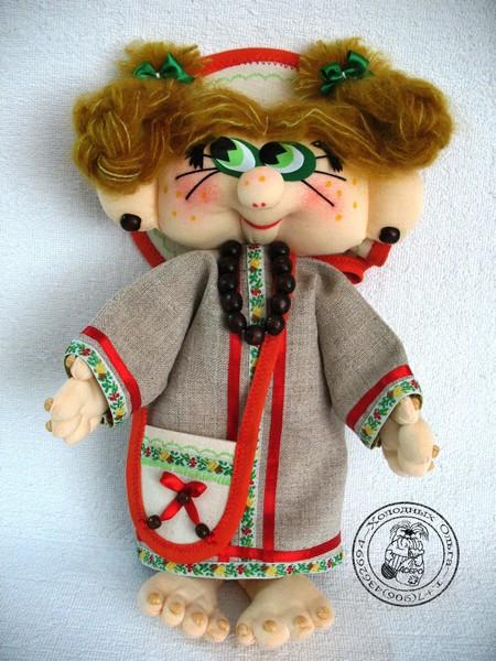 Кукла ручной работы Душечка