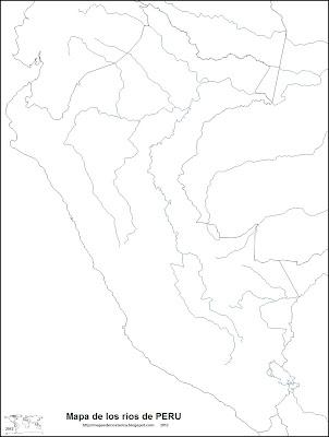 Mapa de los rios de PERU