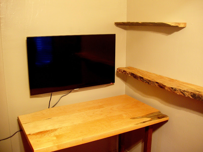 Brown Wooden Desks with Shelf