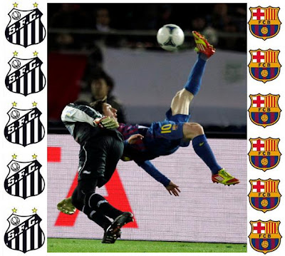 Jalannya Pertandingan Barcelona vs Santos