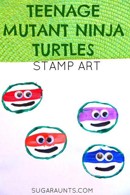 Your teenage mutant ninja turtle fan will love this art craft!