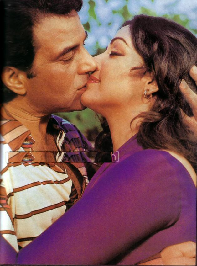 Hema Malini Hot Kiss