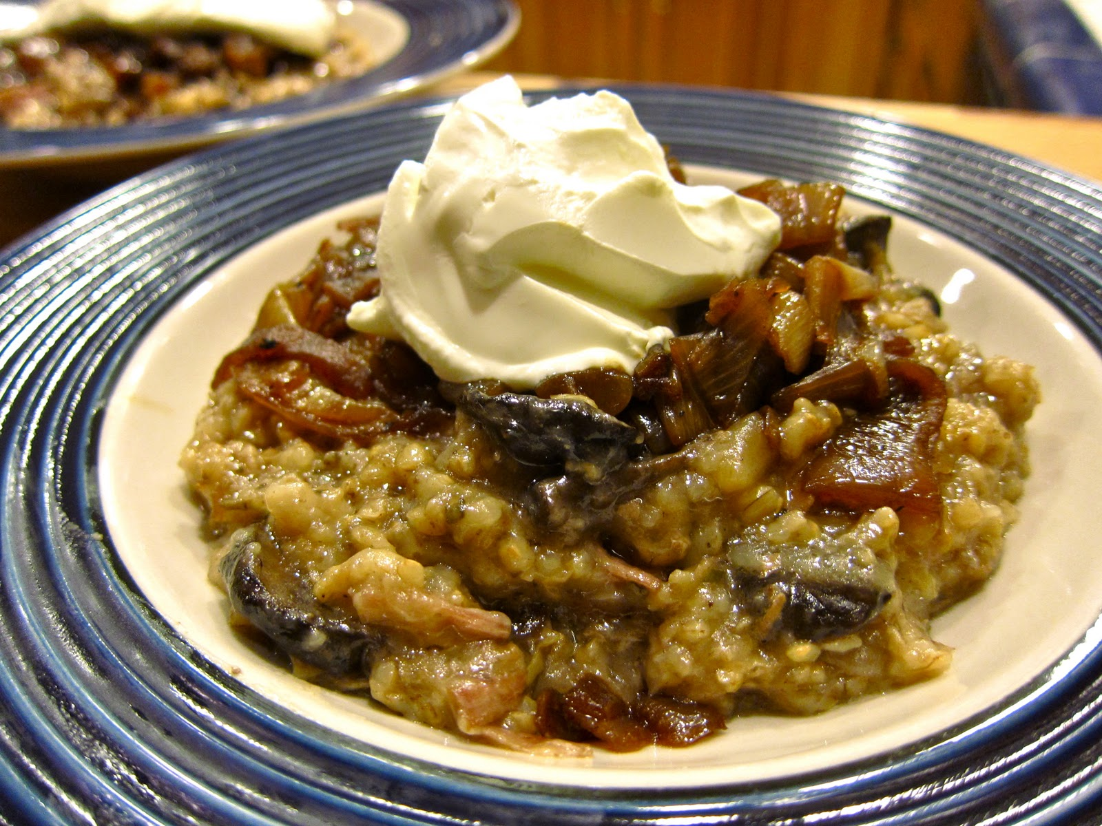 ... Delicious: Slow Cooker Mushroom Risotto with Pork & Caramelized Onions
