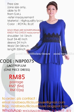 NBP0075 LACE PEPLUM DRESS