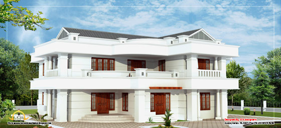 Beautiful 2 Storey House Elevation  - 3665  Sq. Ft. (340 Sq. M.) (407 square yards)