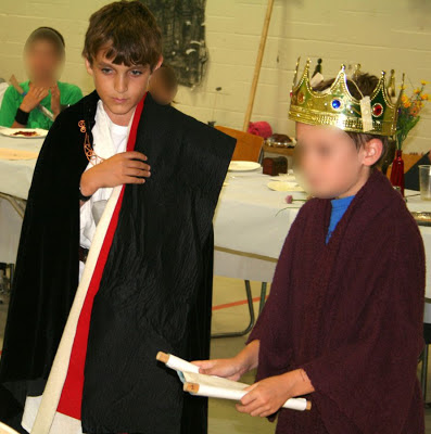 Medieval knighting ceremony, grade 4 social studies event :: All Pretty Things