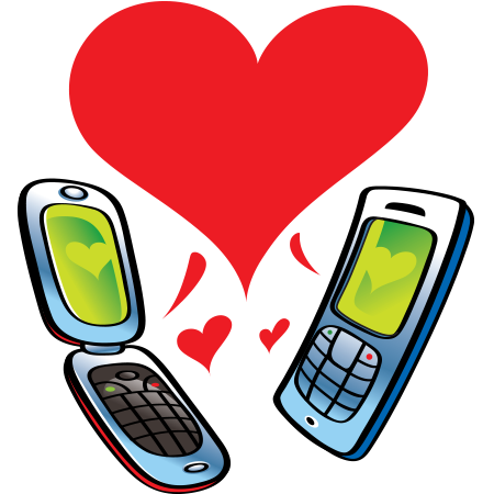 Mobile Love Emoticon