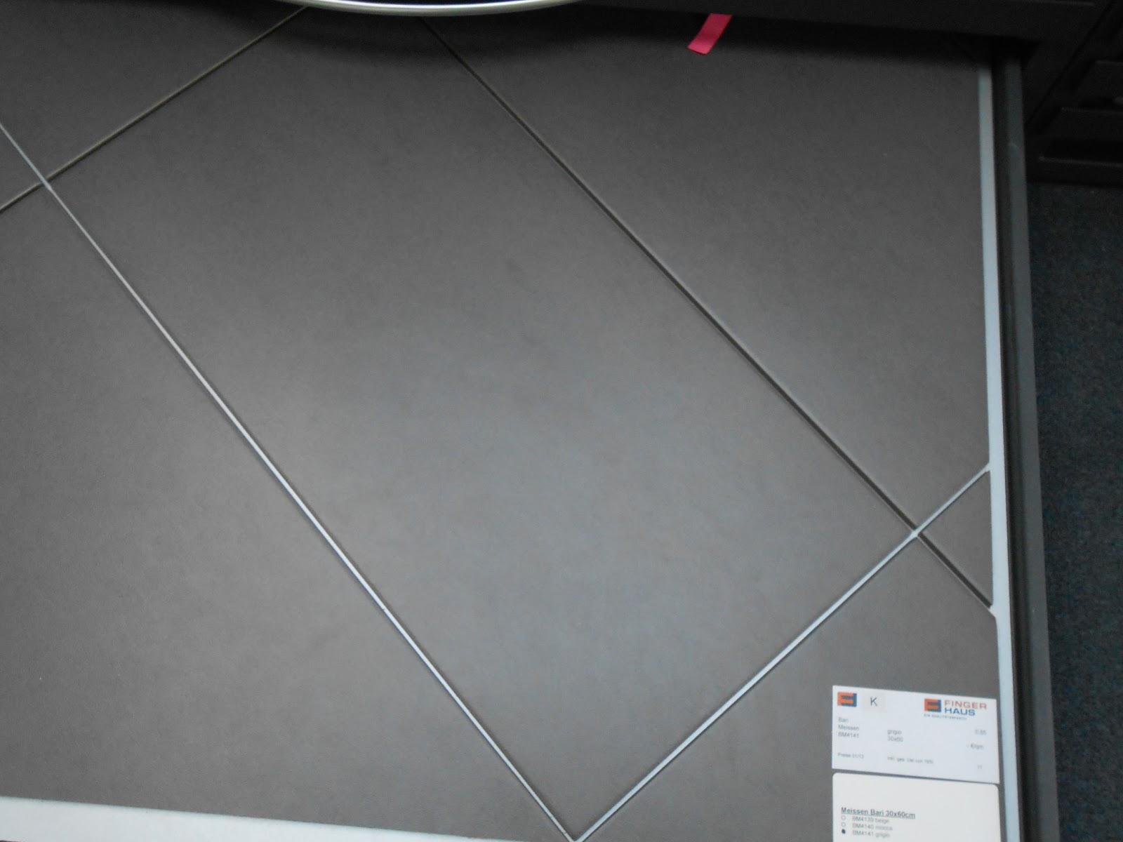Unser Bautagebuch Bemusterung - Fliesen 30 x 60 cm verlegen