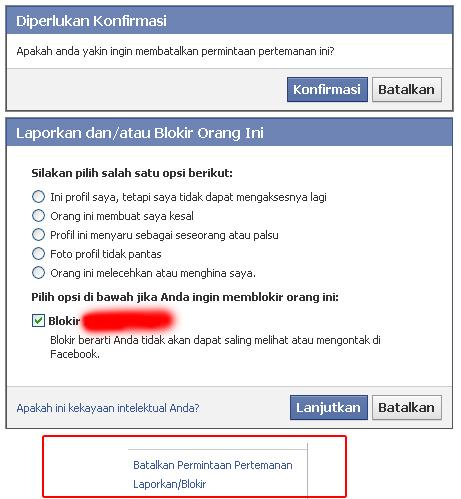 Batalkan Permintaan Pertemanan FB