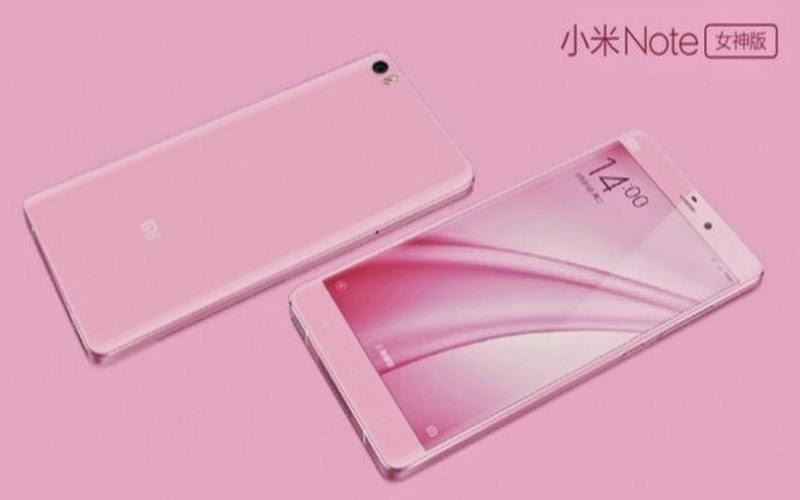 Xiaomi Hadirkan Mi Note versi Pink dan Redmi 2A