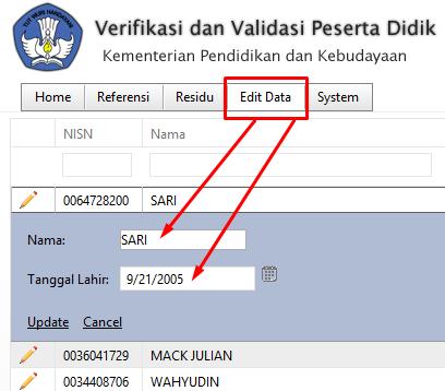 Solusi Data Salah NISN Ganda Verval NISN