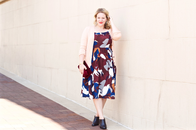 Loft floral dress for fall