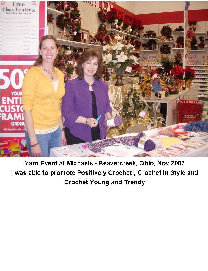 positively crochet book signing at michaels arts and