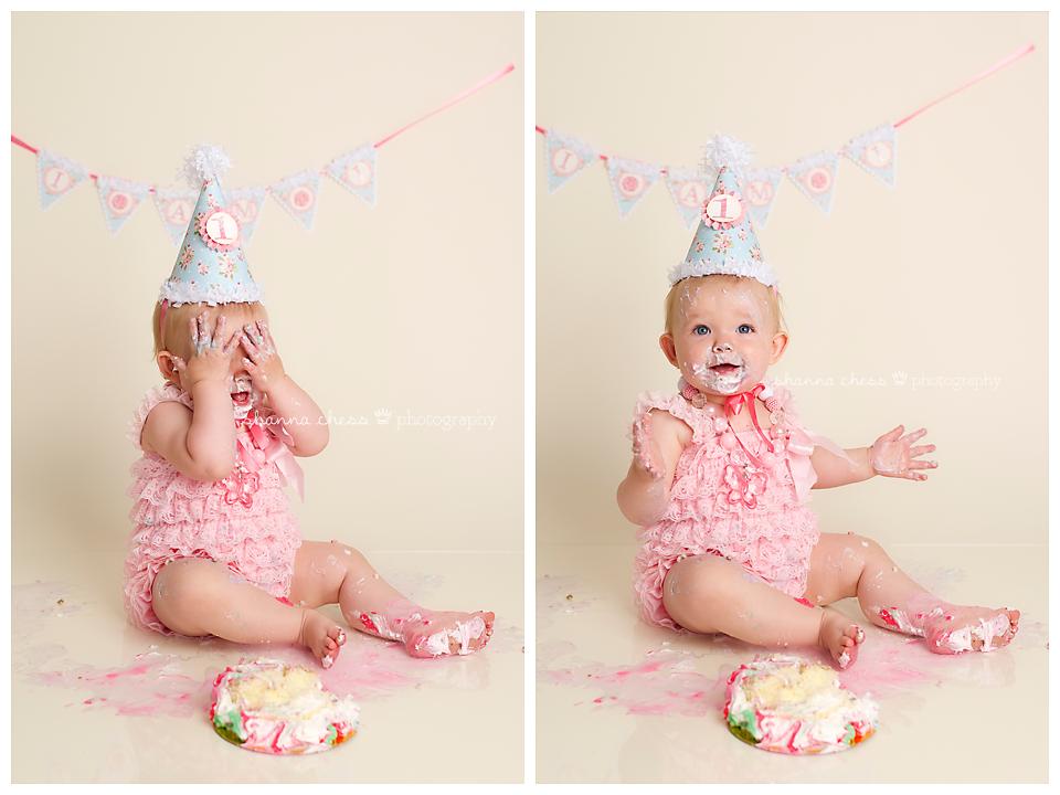 eugene springfield oregon baby photography cake smash peekaboo