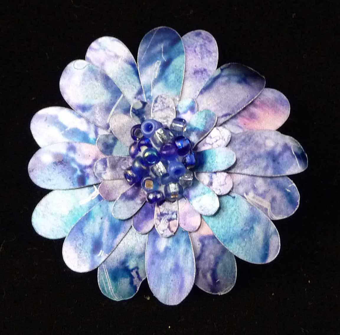 Цветы из фольги. Мастер-класс с пошаговым фото 51