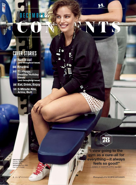 Fashion Model, @ Emily DiDonato - Self magazine, Dicembre 2015
