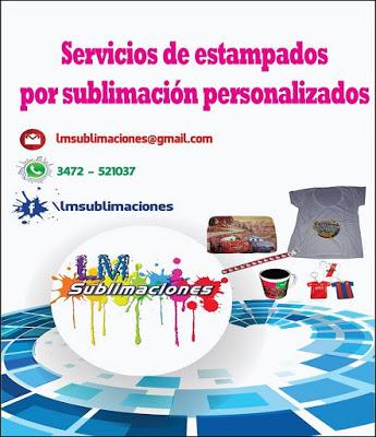 ESPACIO PUBLICITARIO: LM SUBLIMACIONES