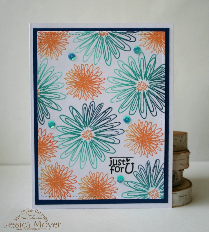 Hero Arts Ombre Ink Background with My Style Stamps by Jess Moyer