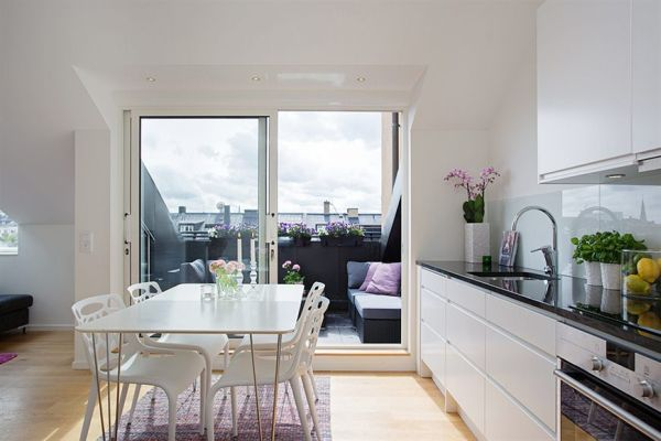 l 39 utilisation de l 39 espace dans un appartement de 45 m tres carr s d cor de maison d coration. Black Bedroom Furniture Sets. Home Design Ideas