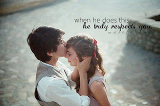 boy kissing her girlfriend quote