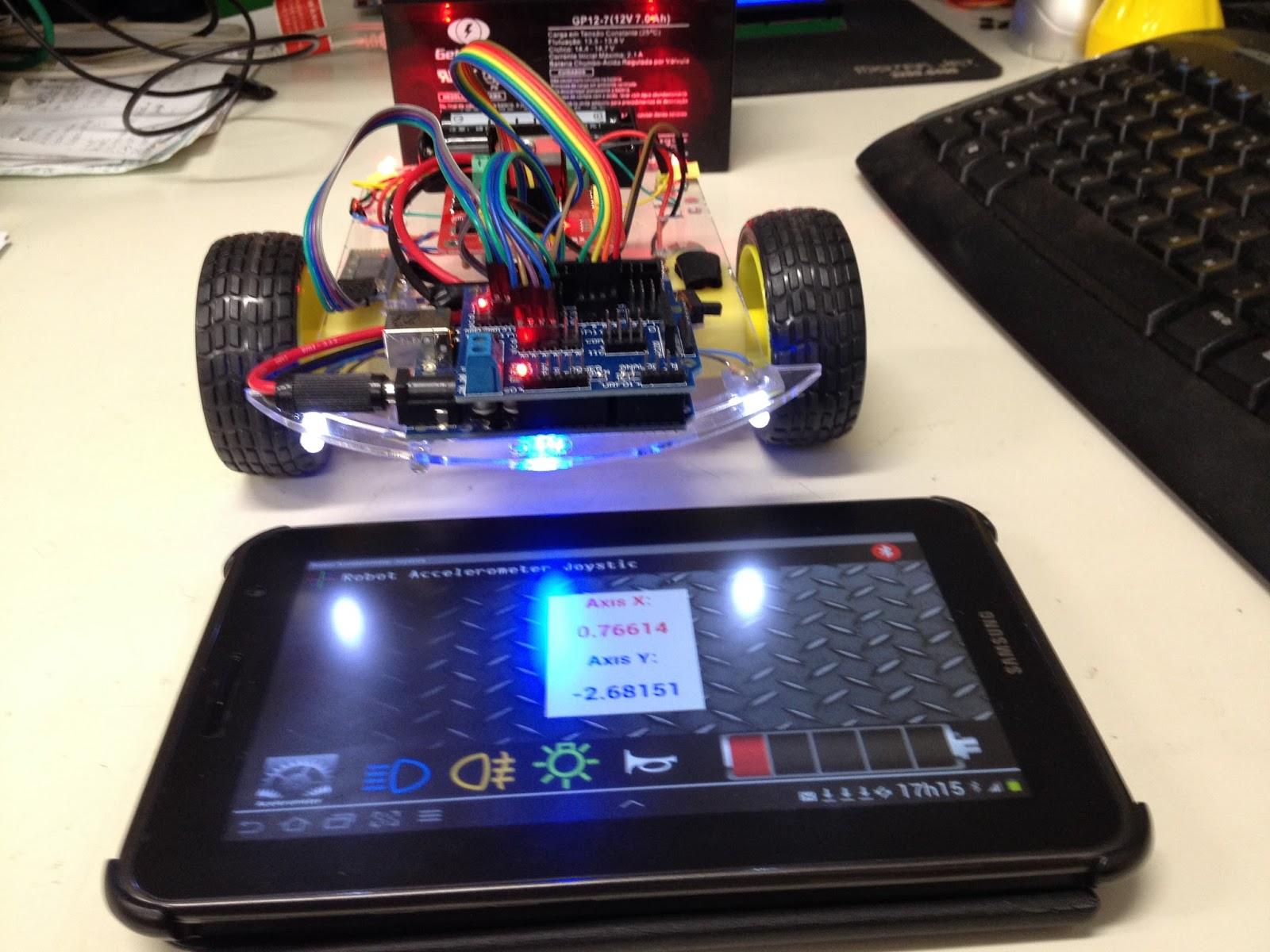 Android arduino bluetooth robot accelerometer joystick