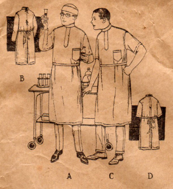 Unsung Sewing Patterns: Standard Designer 3804 - Surgical Gown and Cap