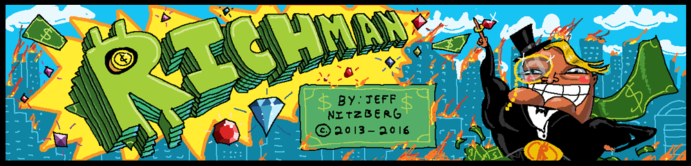 Richman: The World's Richest Superhero. A Web Comic by Jeff Nitzberg